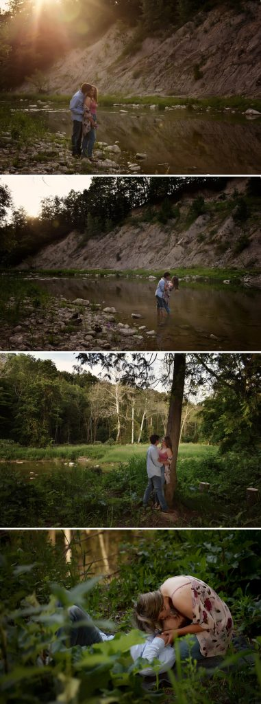 engagement photos in bayfield ontario